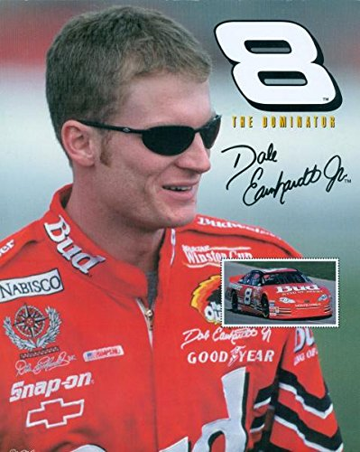 Dale Earnhardt Jr. 8x10 photo (Auto Racing- NASCAR) The Dominator #8 facsimile autograph