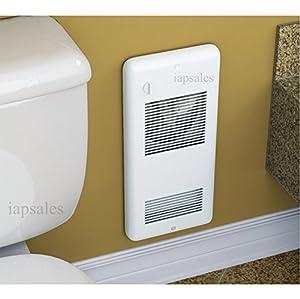 High quality bathroom wall heaters pulsair 1501tw white for Small bathroom heater