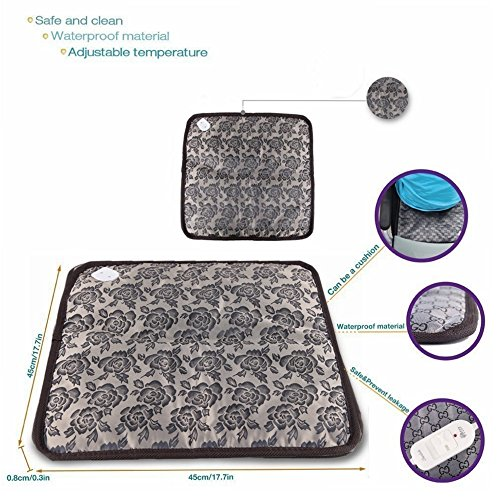 Kailian ® Safety Pet Dog Cat -Bed Electric Heating Blanket, Waterproof Mat, Winter Warm Pad 44.5cm x44.5cm