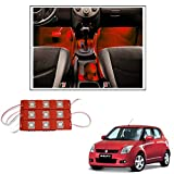 #4: Vheelocityin 9 LED Custom Cuttable Car Red Light for Interior/ Exterior For Maruti Suzuki Swift New