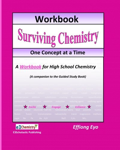 Surviving Chemistry One Concept At A Time: Workbook: A Workbook For High School Chemistry (Pink)