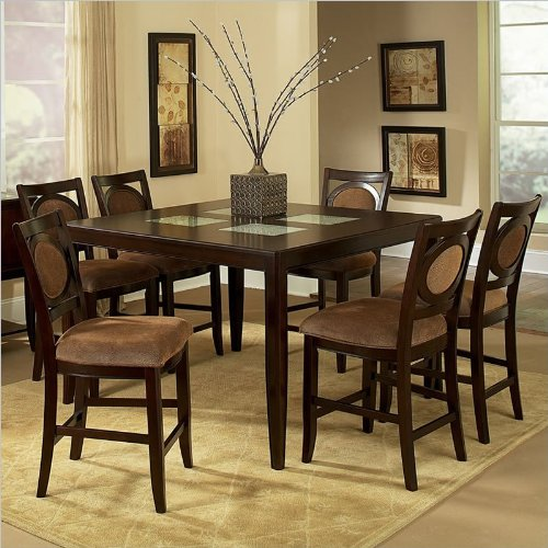 Steve Silver Harmony 7 Piece Oval Dining Room Set In: Steve Silver Montblanc 7 Piece Counter Height Dining Set