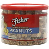Fisher Butter Toffee Peanuts, 12-Ounce Packages (Pack of 6)
