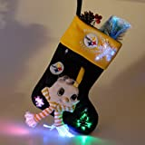 "18"" NFL Pittsburgh Steelers Plush Lighted Fiber Optic Christmas Stocking"