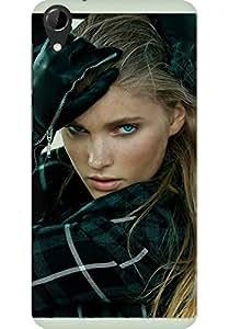 AMEZ designer printed 3d premium high quality back case cover for HTC Desire 728 (Hosk model pose sexy girl art.JPG)