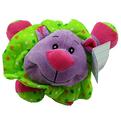 Fiesta Plush - Baby - LAYDOWN LION (Purple with Rattle - 7.5 inch)