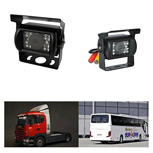 Vista posteriore senza fili di IR di visione notturna macchina fotografica di sostegno vista Kit posteriore del monitor impermeabile per camion / Van / Area / Trailer / Camper PAL e NTSC dell'alta soluzione