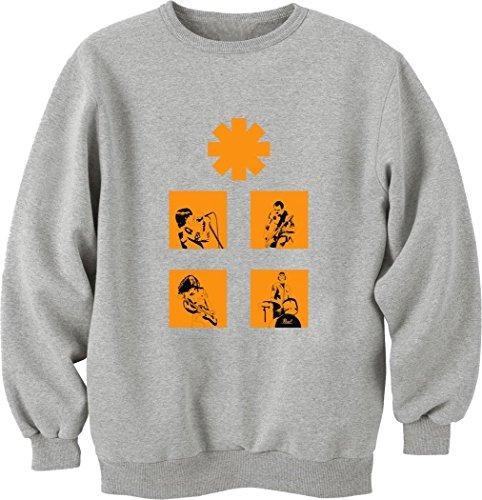Red Hot Chili Peppers-Felpa a girocollo, Unisex, colore: arancione grigio XL
