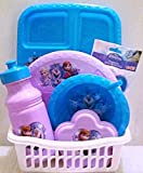 Exclusive Disney's Frozen Meal Time Gift Set! 8 Pc. All Enclusive Set Includes: Dinnerware + BONUS Storage Caddy! Gift Wrapping & Greeting Card Inculded! Featuring Elsa, Anna & Olaf!