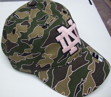Notre Dame Fighting Irish Adidas Women's Camo Pink Hat