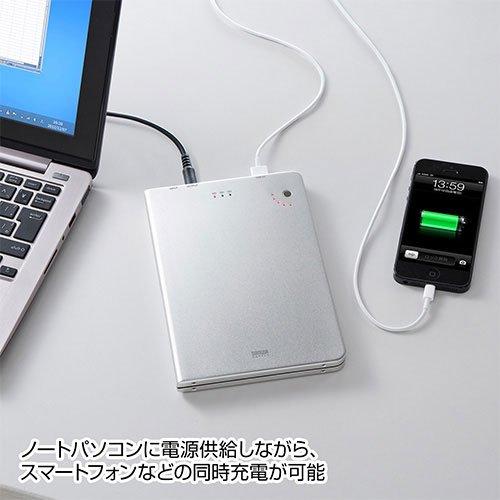 SANWA SUPPLY アウトレット USB充電 ポート 付き ノート パソコン 用 モバイルバッテリー BTL-RDC6 箱にキズ、汚れのあるアウトレット品です。