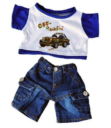 """Off Roading"" Outfit W/Cargo Jeans Outfit Teddy Bear Clothes Fits Most 14"" - 18"" Build-A-Bear, Vermont Teddy Bears, And Make Your Own Stuffed Animals"