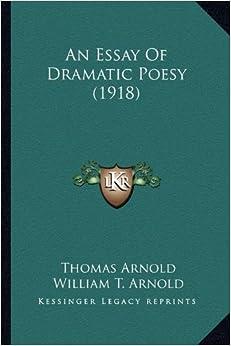 an essay of dramatic poesy