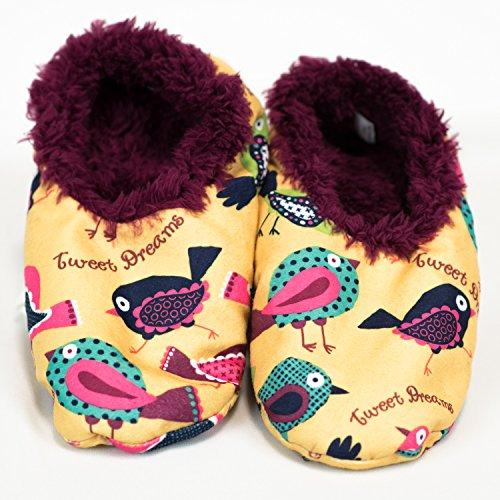 Tweet Dreams-Birds Fuzzy Feet Slippers by Lazy One (Lazy One Fuzzy Feet compare prices)