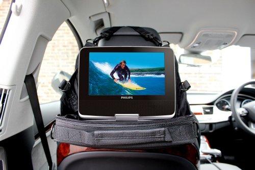 housse support d 39 appui t te voiture pour lecteurs dvd portables philips pd7022 pd7032 12. Black Bedroom Furniture Sets. Home Design Ideas
