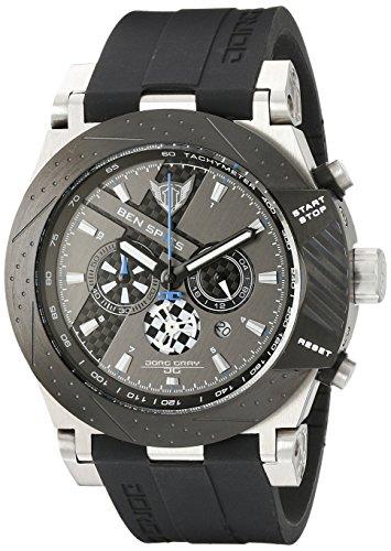 Jorg Gray Ben Spies JG6700-11 Limited Edition JG6700-11 - Reloj cronógrafo de cuarzo para hombre, correa de silicona color negro