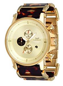 Vestal Men's PLA019 Plexi Acetate Gold and Tortoise Chronograph Watch