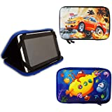 "7"" Inch Spiky and Sea Kids EVA Tablet Hard Shell Case for Samsung Galaxy Tab 2 / Tab 3 [& Kids] / Tab 4 7 Inch Tablet - Sea"