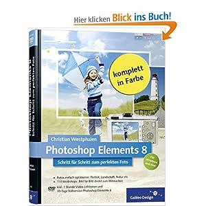 eBook Cover für  Photoshop Elements 8 Schritt f uuml r Schritt zum perfekten Foto