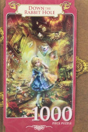 Down The Rabbit Hole Book Box Jigsaw Puzzle,
