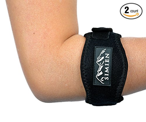 SIMIEN-Tennis-Elbow-Brace-2-Count-Tennis-Golfers-Elbow-Pain-Relief-with-Compression-Pad-Wrist-Sweatband-and-E-Book