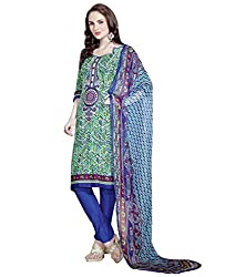 Admyrin Women Multi Colour Cambric Cotton Semi-stitched Salwar Kameez