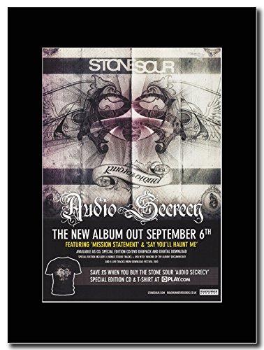 Stone Sour-Magazine Promo segretezza Audio su un supporto, colore: nero