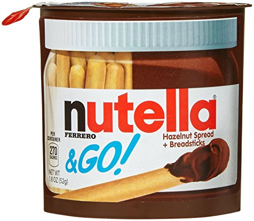 Ferrero Nutella & Go Hazelnut Spread and Breadsticks, 12 Count