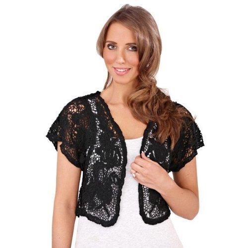 satsuma fr bol ro femme en crochet motif floral 100 coton couleur noir taille medium. Black Bedroom Furniture Sets. Home Design Ideas