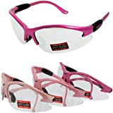 Medium Pink Cougar Safety Glasses (The color pink may vary)