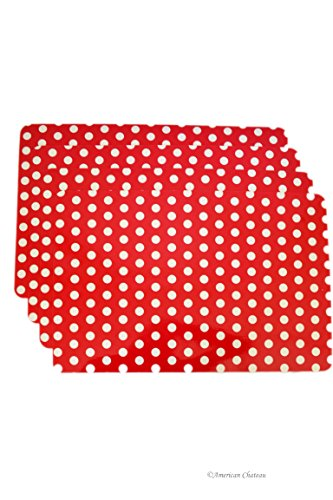 Red and White Polka Dot Placemats