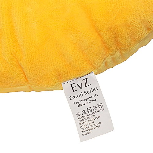 EvZ-32cm-Emoji-Smiley-Emoticon-Yellow-Round-Cushion-Pillow-Stuffed-Plush-Soft-Toy