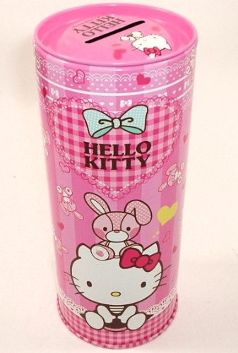 Large Hello Kitty Metal Coin Bank Pink