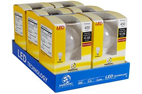 Energetic Lighting ELY06D-EAS-VB-6 A19 - 40 Watt Equivalent 450 Lumen Dimmable, 6-Pack