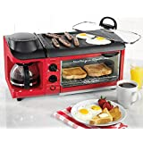 Nostalgia BSET300RETRORED Retro Series 3-in-1 Breakfast Station