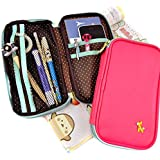 Cool Pencil Case - Giraffe Charm Wallet and Pencil Pouch Duo (Hot Pink)