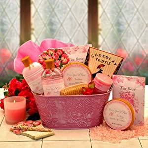 Once Upon A Rose Spa Gift Basket