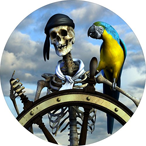 Pirate & Parrot Tire Cover for Jeep RV and more (all sizes available) (Pirates Jeep Tire Cover compare prices)