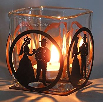 Cowboy Wedding Votive Holder