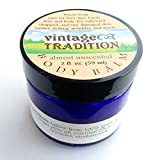 Vintage Tradition Almost Unscented Tallow Balm, 100% Grass-Fed, 2 Oz