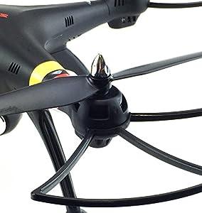 Update efaso Quadcopter Syma X8C Neues Modell jetzt mit 3 MP Kamera- 2,4 GHz 4-Kanal Quadrocopter mit 5 MP Weitwinkel-HD-Kamera, Headless Mode, Rotorschutz, LED-Beleuchtung, 6-Achsen-Gyro und Flip-Funktion