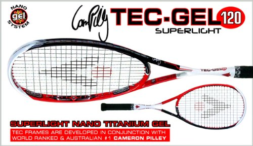 Karakal Tec Gel 120 Unisex Squash Racket - Black/Red/White