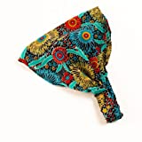 Exotic Bandana Headband (Turquoise/ Red)