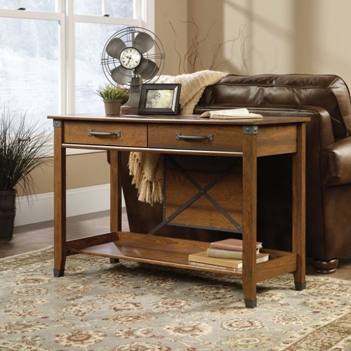 Sauder Carson Forge Sofa Table, Washington Cherry Finish front-957054