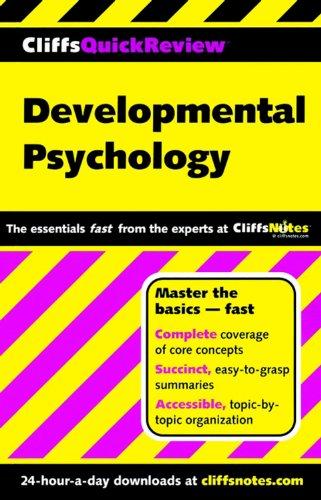 Cliffsquickreview Developmental Psychology front-643057