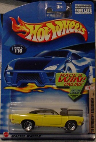 Hot Wheels '70 Plymouth Roadrunner 4/4 2002 #110 Hot Rod Magazine - 1