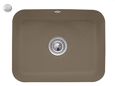 Villeroy & Boch cisterna 60C Timber colour marrón inferior de cerámica fregadero de la cocina