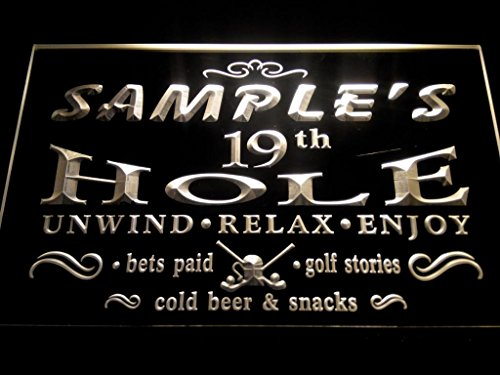 C B Signs Custom Personalized Led Sign Golf 19Th Hole Bar Neon Light Sign - Great Personalized Gift Idea! - Yellow
