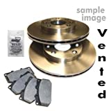 Brake discs ventilated Ã242mm + Brake pads front NISSAN PRIMERA P10 1.6,2.0 D YEAR 1990-96 + HATCHBACK