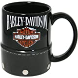 Harley Davidson Black Saddle Bag 11 Ounce Coffee Mug